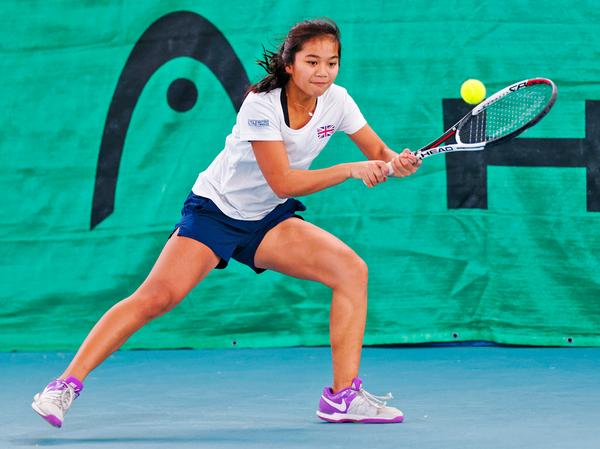 Westway's young tennis champion Andrea Pineda / © richard van loon