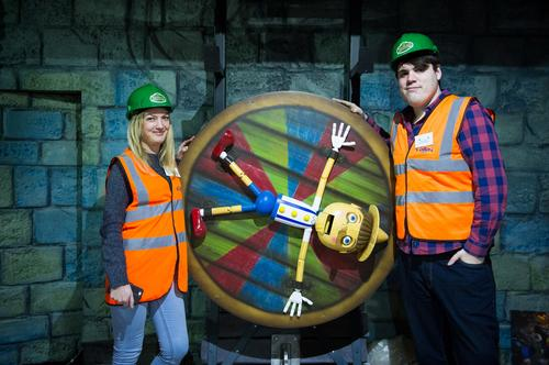 The CLAD team was on-hand for a hard hat tour of the Shrek attraction / Merlin Entertainments
