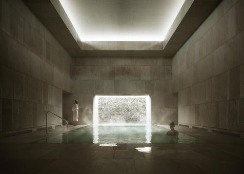 Francisco Mangado will lead the conversion of an old hospital into a thermal bath facility / Francisco Mangado Architects