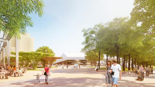 The developers said the plaza will 'be a memorable and distinctive place that embodies a unique account of the people, cultural life and character of Adelaide' / Renewal SA