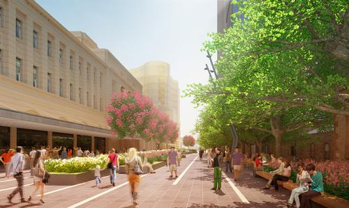 A promenade will connect the plaza with the rest of the city / Renewal SA