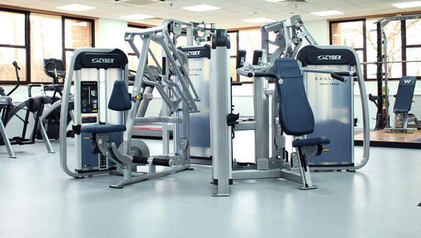 The gym features Cybex's Eagle NX and Prestige VRS strength lines