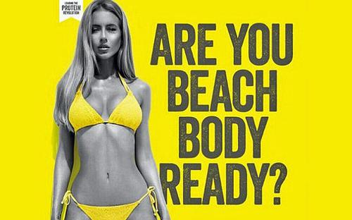 Protests planned over 'Beach body ready' tube advert