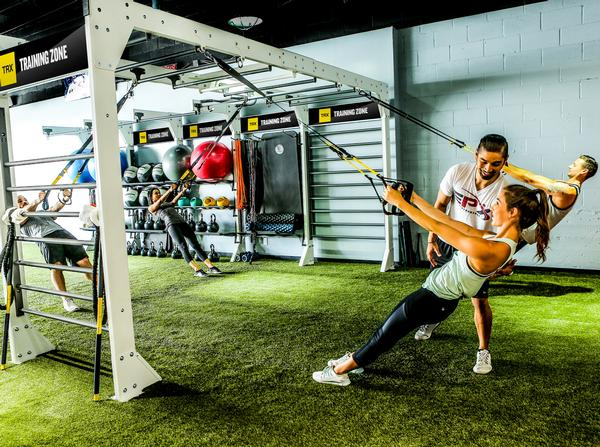 The TRX Training Zone is a customisable, modular system