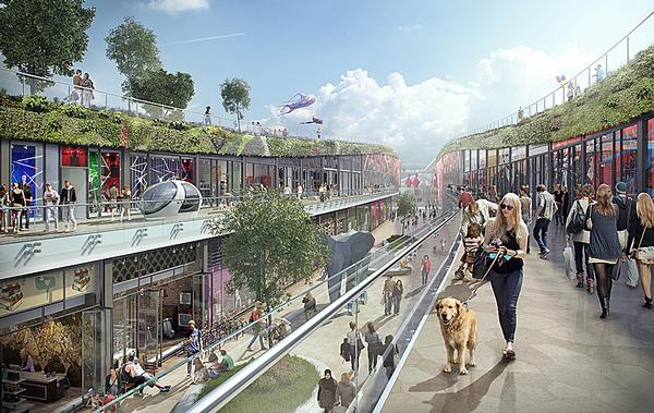 The city will feature a huge range of cultural, sporting, retail and leisure facilities