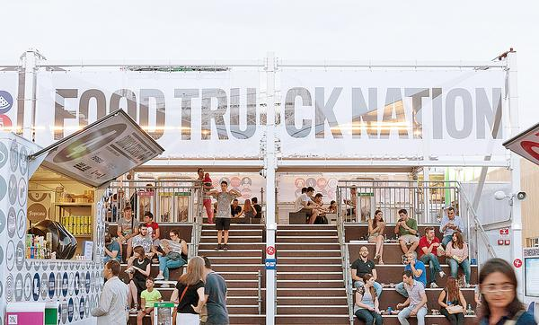 Biber Architects designed Food Truck Nation, inspired by US street food culture, for Expo Milan