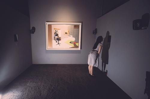 Richard Hamilton's Interior II had the original scent of Pledge as one of several multi-sensory elements / Tate Photography