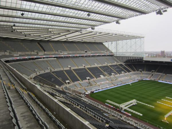 The World Cup will see the first ever official rugby union games played at St. James' Park