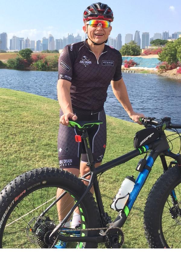 The man and his bike – Wolfgang Hohmann in Dubai
