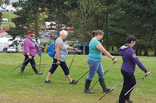 Nordic walking participation has been doubling year on year
