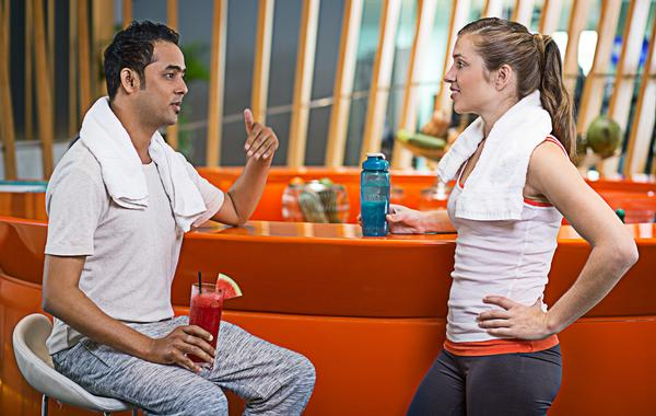 Most members welcome the option of a healthy drink post-workout / PHOTOS: SHUTTERSTOCK.COM
