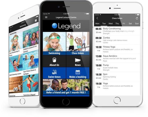 Legend's powerful mobile App