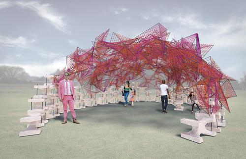 BanG Studio's design for the FIGMENT Pavilion 2015 / BanG Studio