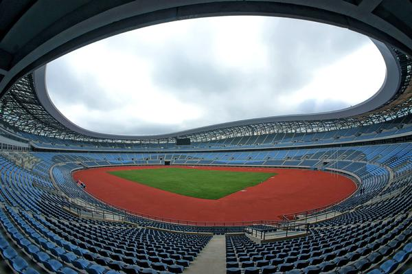Polytan|STI installed a circular track at Dalian