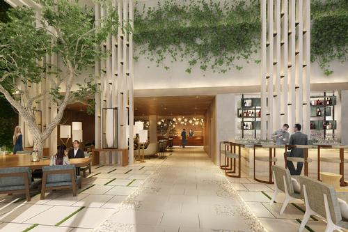 Architecturally, the hotel will echo surrounding Californian hillside residences and feature a visual connection between the indoor and outdoor areas / Rockwell Group