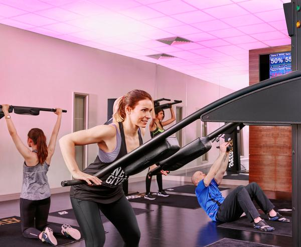 The Speedflex circuit creates resistance based on the individual's force