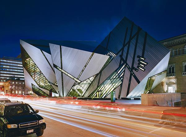 Libeskind designed the extension to the Royal Ontario Museum, opened in 2007