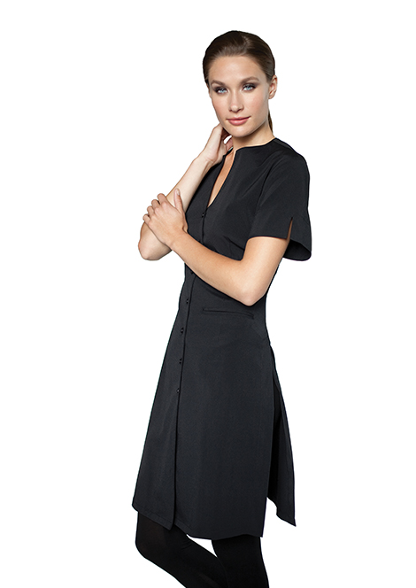 The new tunics have a built in waist band that for Spa uniform europe