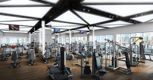 The multi-storey gym features the latest equipment / Moinian Group