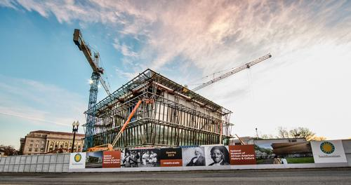 Construction began in 2013 and will be completed soon / National Museum of African American History and Culture