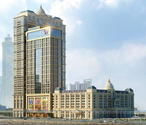 The 234-bedroom St. Regis is the first of three hotels scheduled to open in the multi-use Al Habtoor City / St Regis