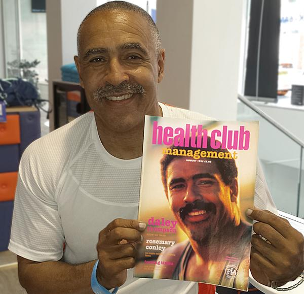 Daley Thompson was on the cover of the first ever issue of Health Club Management, back in 1995