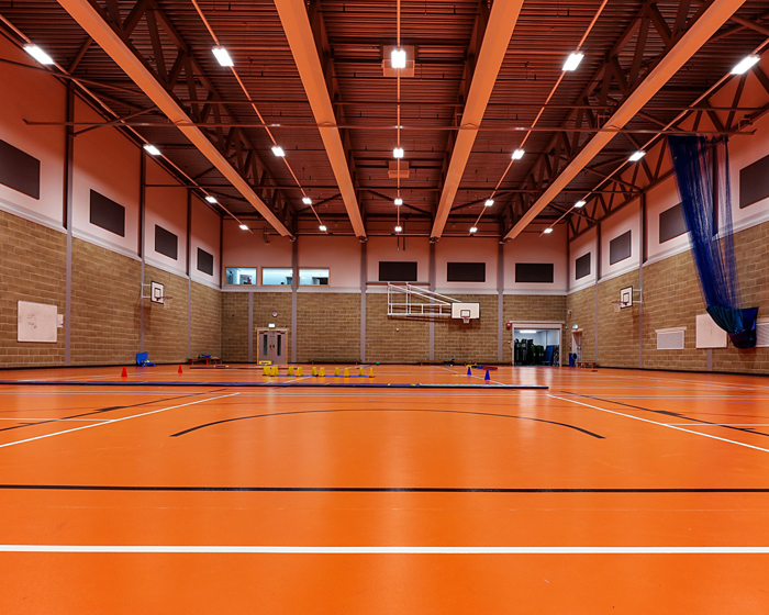Gerflor's Taraflex Sport M Performance Terracotta was installed at The Sybil Andrews Academy in Bury St Edmunds
