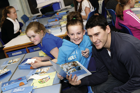 Appearances by Manchester City players like Gareth Barry boost the profile of community initiatives