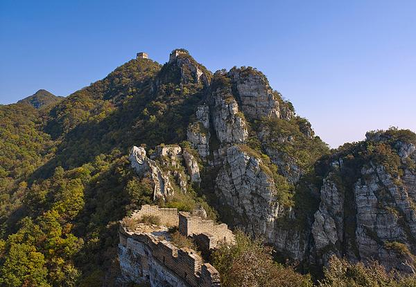 The site was chosen because of its impressive views of the Great Wall of China