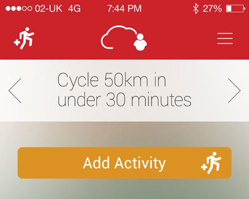 The app allows users to track workout duration, calories burned, and their heart rate