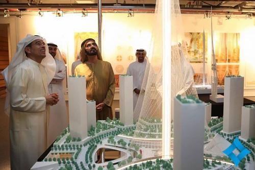 The ruler of the emirate, Sheikh Mohammed bin Rashid Al Maktoum, approved Calatrava's futuristic design ahead of five others / WAM