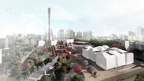 The Guangzhou cultural hub will form a trifecta of cultural attractions known as Three Museums - One Square / Nieto Sobejano