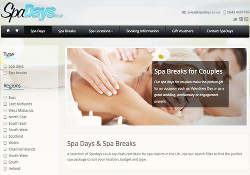 The Spadays.co.uk website launched in February
