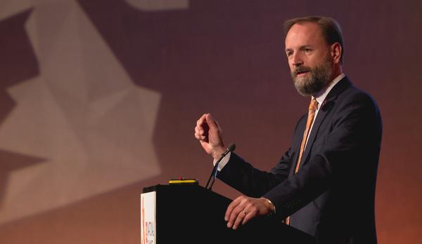 Simon Stevens addresses the activity sector at the recent ukactive Summit / Photograph: SHUTTERSTOCK.COM