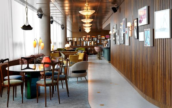 The interiors of Soho House were designed to evoke the original BBC interiors