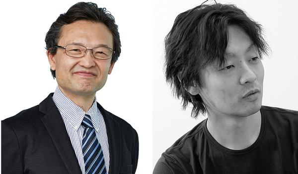 Executive officer Tadahiko Murao (left) and design general manager Takeyuki Katsuya (right)