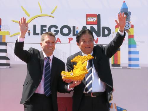 Merlin Entertainments CEO, Nick Varney, and Nagoya mayor, Takashi Kawamura, were both on-hand at the groundbreaking ceremony / Merlin Entertainments