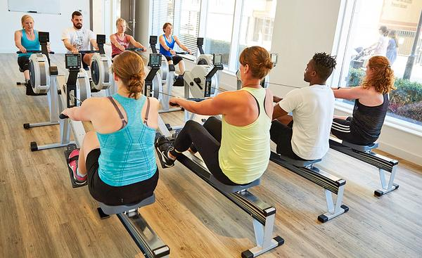 Group rowing classes are gaining popularity in the United States
