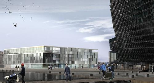 Designing something to sit alongside the stunning Harpa Centre is a huge challenge / Mannvit and T.ark architects