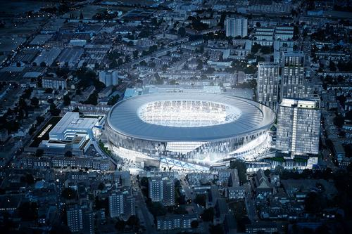 The 61,000-stadium will be built alongside 579 homes and a 180-room hotel