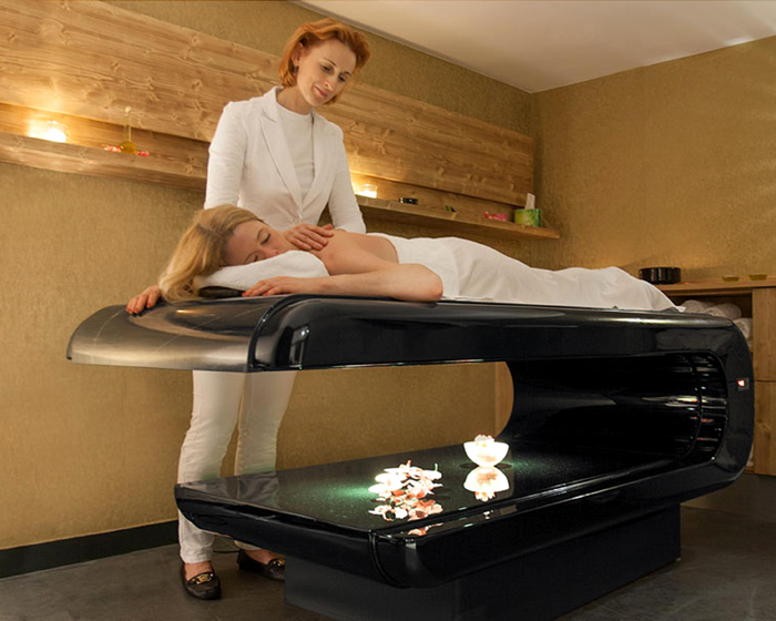 Marble massage bench uses infrared technology