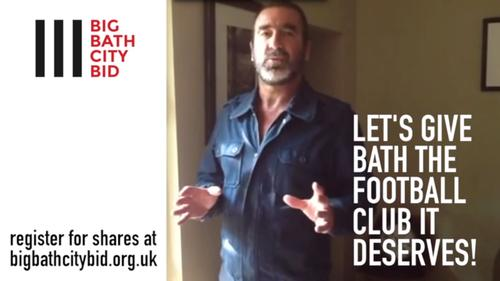 Cantona made his pledge to back the campaign on a video message