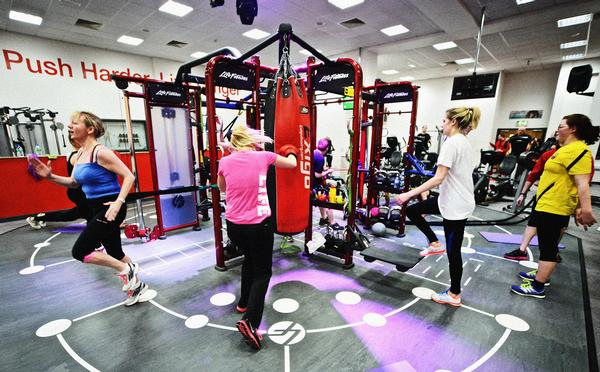The zone at Burnley Leisure Centre includes vibrant lights and music