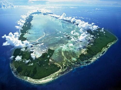 The remote island hosts a unique eco-system around its reef