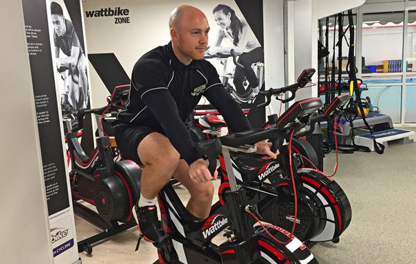 The Wattbike zone is open to the gym, piquing other members' interest