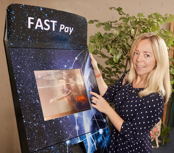 Legend's innovative Fast Payment Kiosk in action.