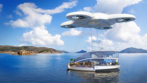 When we fancy a change of scene, we can call upon a drone to airlift our mobile home to a new destination / SmartThings