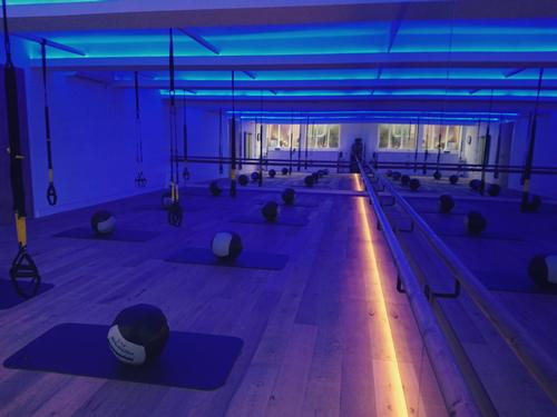 The 3,000sq ft (279sq m) venue boasts two studios offering Heartcore's tried and tested mix of Pilates, TRX and Barre classes / Heartcore