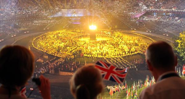 Populous designed the London Olympic stadium which hosted the opening ceremony / friso gentasch / press association images