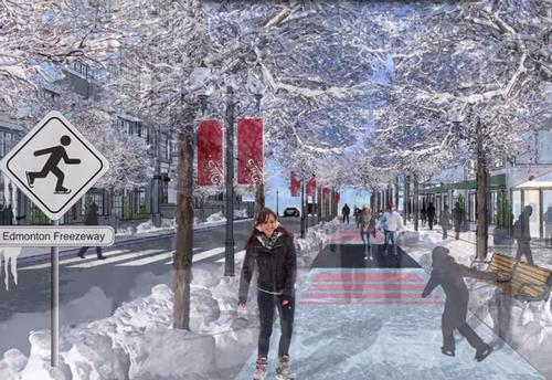 A working winter wonderland: Canadian 'Freezeway' conjures active commuting solution